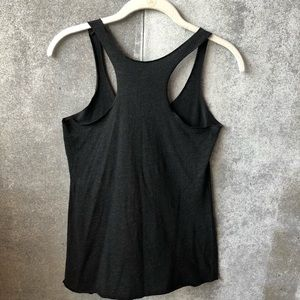 barre 3 Tops - Barre 3 dark gray and gold logo tank